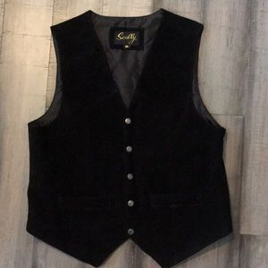 Suede Leather Scully Western Vest